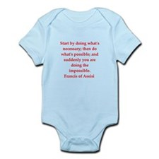 Saint Francis of Assisi Infant Bodysuit