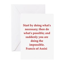 Saint Francis of Assisi Greeting Cards (Pk of 10)