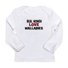 Real Women Love Wallabies Long Sleeve Infant T-Shi
