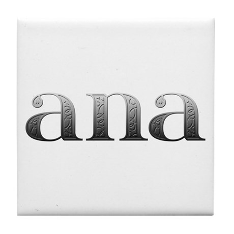 Ana Carved Metal Tile Coaster