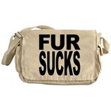 Fur Sucks Messenger Bag