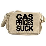 Gas Prices Suck Messenger Bag