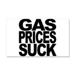 Gas Prices Suck Car Magnet 20 x 12