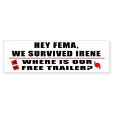 Hurricane Irene Bumper Sticker