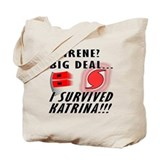 Hurricane Irene vs Katrina Tote Bag