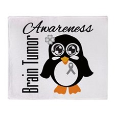 Penguin Brain Tumor Throw Blanket