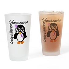 Penguin Crohn's Disease Drinking Glass