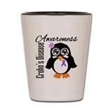 Penguin Crohn's Disease Shot Glass