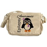 Penguin Epilepsy Awareness Messenger Bag