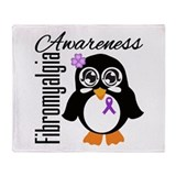 Penguin Fibromyalgia Throw Blanket