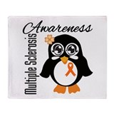 Penguin Multiple Sclerosis Throw Blanket