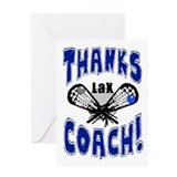 Thanks Coach! Lacrosse Greeting Card