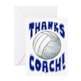Thanks Coach Volleyball Greeting Card