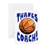 Thanks Coach! Basketball Greeting Card