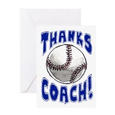 Thanks Coach! Baseball Greeting Card