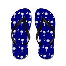 Cool South carolina palmetto tree Flip Flops