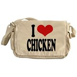 I Love Chicken Messenger Bag