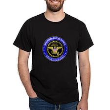 Minuteman Border Patrol  Black T-Shirt