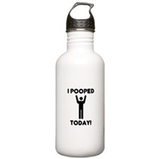 I pooped today Water Bottle