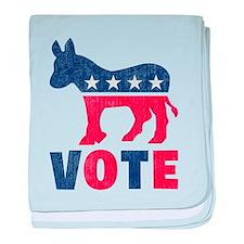 Democrat Vote 2 baby blanket