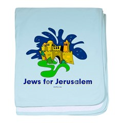 Jews For Jerusalem baby blanket