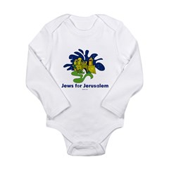 Jews For Jerusalem Long Sleeve Infant Bodysuit