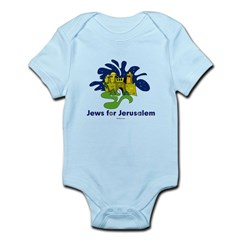 Jews For Jerusalem Infant Bodysuit