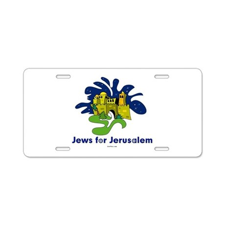 Jews For Jerusalem Aluminum License Plate