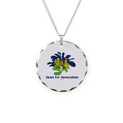 Jews For Jerusalem Necklace Circle Charm
