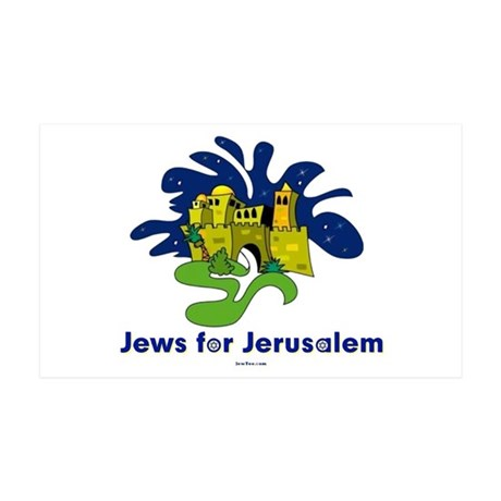 Jews For Jerusalem 38.5 x 24.5 Wall Peel