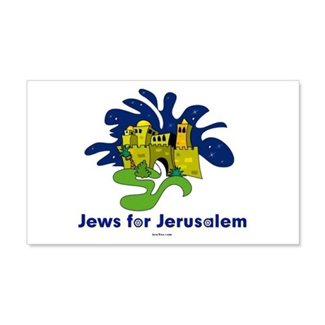 Jews For Jerusalem 22x14 Wall Peel