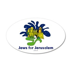 Jews For Jerusalem 22x14 Oval Wall Peel