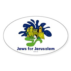 Jews For Jerusalem Sticker (Oval)