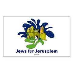 Jews For Jerusalem Sticker (Rectangle)