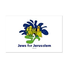 Jews For Jerusalem Mini Poster Print