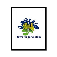 Jews For Jerusalem Framed Panel Print