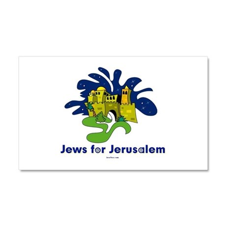 Jews For Jerusalem Car Magnet 20 x 12
