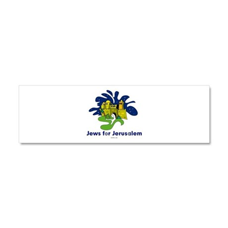 Jews For Jerusalem Car Magnet 10 x 3