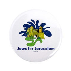 "Jews For Jerusalem 3.5"" Button"