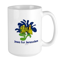 Jews For Jerusalem Large Mug