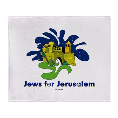 Jews For Jerusalem Throw Blanket