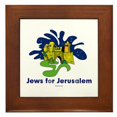 Jews For Jerusalem Framed Tile