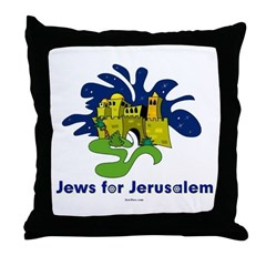 Jews For Jerusalem Throw Pillow