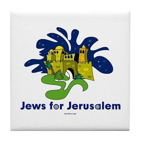Jews For Jerusalem Tile Coaster