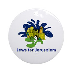 Jews For Jerusalem Ornament (Round)