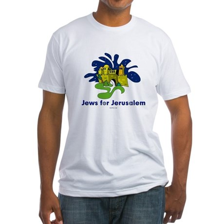 Jews For Jerusalem Fitted T-Shirt