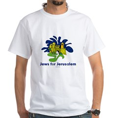 Jews For Jerusalem White T-Shirt