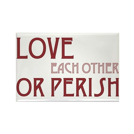 Love or Perish Rectangle Magnets ~ Pack of 100