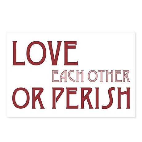 Love or Perish Postcards ~ Package of 8