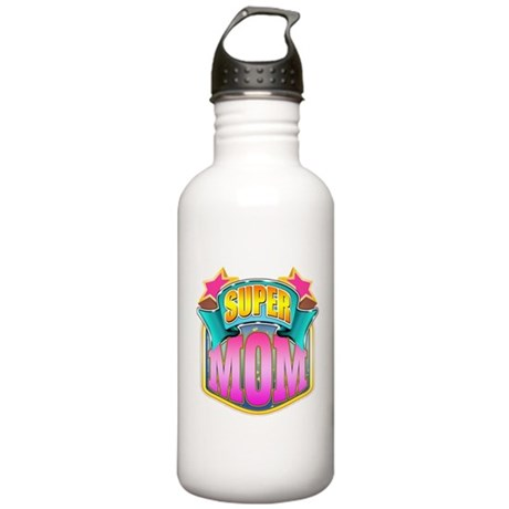 Pink Super Mom Stainless Water Bottle 1.0L